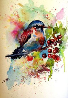 Buy Cute little bird - perfect gift idea, Watercolour by Kovács Anna Brigitta on Artfinder. Discover thousands of other original paintings, prints, sculptures and photography from independent artists.