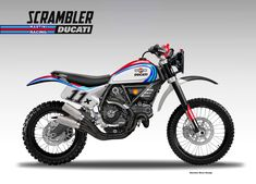 "Motosketches: DUCATI SCRAMBLER "" BAJA MARTINI RACING"""