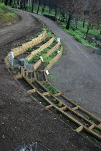 garden hillside Driveway retaining wall with 97 tiered garden beds … garden hillside Driveway retaining wall with 97 tiered garden beds Hillside Garden, Hillside Landscaping, Sloped Garden, Terrace Garden, Front Yard Landscaping, Garden Paths, Landscaping Ideas, Terrace Ideas, Landscaping Software