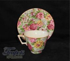 Crown Ducal Peony Chintz Antique Tea Cup
