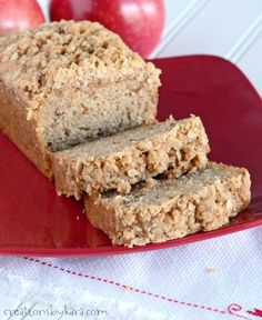 Share Tweet Pin Mail This tender and moist Applesauce Bread is made even more delicious with a crunchy cinnamon oat topping. Enjoy a slice ...