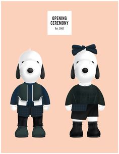 Sept. 8 at New museum in NY - Snoopy and Belle in Fashion by Opening Ceremony