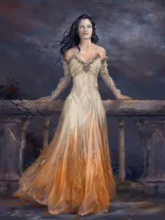 Melian could not look at first into her daughter's eyes, since she could see the doom of mortality written in them and she knew that Lúthien would be parted from her forever and leave the material world behind with Beren, when the time came for her to die. Melian on the other hand would exist forever until the end of Arda, as Lúthien should have if she had not became mortal for her husband.