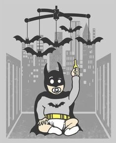 baby batman & the bat-mobile