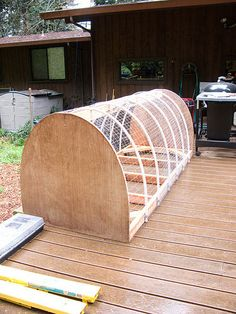 pvc pipe chicken tractor | call this a Chicken Barrow instead of a Chicken Tractor because it ...