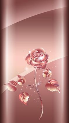 Rose Gold Rose... By Artist Unknown...