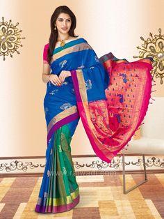 9a479871b771c4 Pure Silk Handwoven Saree  rajwadi  silksaree  saree  sareeswag  FeelRoyal   casualwear