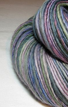 Beautiful colour and single. Good inspiration. // Handspun Yarn Gently Thick and Thin Single by SheepingBeauty, $34.00