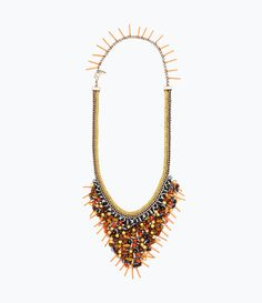 ZARA - WOMAN - CHAINS AND COLORED STONES NECKLACE