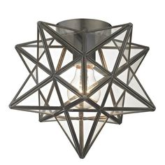 Influenced by the traditional Star design, this fixture adds a cultural quality to your space and is offered with clear for two distinct looks. Elk Lighting, Flush Mount Lighting, Lighting Ideas, Foyer Lighting, Kitchen Lighting, Outdoor Lighting, Exterior Lighting, Lighting Design, Led Flush Mount