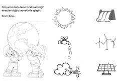 enerji tasarrufu haftası enerji kaynakları eşieştirme Picture Tattoos, Recycling, Preschool, Diagram, Snoopy, Poster, Comics, Windmills, Pictures