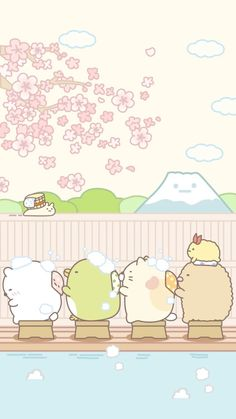 Sumikko gurashi Sanrio Wallpaper, Wallpaper Kawaii, Kawaii Doodles, Cute Kawaii Drawings, Kawaii Art, Kawaii Illustration, Cute Wallpaper Backgrounds, Cute Cartoon Wallpapers, Cute Images