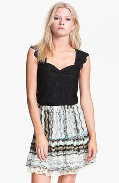 Ella Moss Scalloped Lace Top available at #Nordstrom
