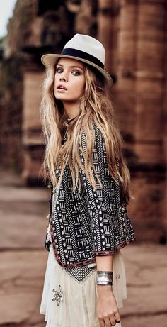 Casual Chic, Style Casual, Summer Fashion Outfits, Boho Outfits, Summer Outfit, Bohemian Mode, Bohemian Style, Ibiza Fashion, Love Fashion