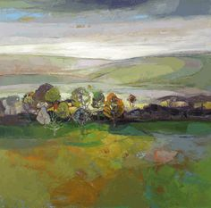 Heading West, oil on canvas, 30 x 30 inches Kirsty Wither