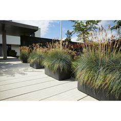 Elho Pure Soft Brick Planten met Wielen 80 cm - Steengrijs