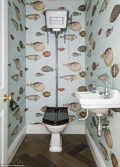 Papier Peint Pour Toilette.177 Meilleures Images Du Tableau Papier Peint Toilettes En