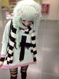 hm..is this fairy kei? looks super awesome!!! looks like creepy kei :D?   Kawaii Lookbook   Pinterest