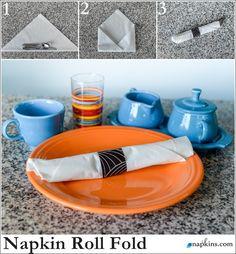 How To: Napkin Roll Fold