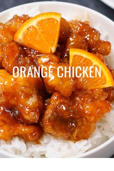 Orange Chicken Recipe {Panda Express Copycat} - TipBuzz Orange Chicken has sticky and crispy fried chicken thighs coated in a citrus, sweet and savory orange chicken sauce. The chicken is marinated and then fried to golden perfection. Orange Chicken Sauce, Chinese Orange Chicken, Healthy Orange Chicken, Orange Chicken Crock Pot, Chicken Sauce Recipes, Asian Chicken, Crispy Chicken, Mandarin Chicken Recipe Chinese, Gastronomia