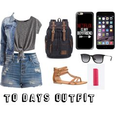 To days outfit... by karoinesommerfugl11 on Polyvore featuring VILA, Pieces, maurices, Casetify, Ray-Ban and Eos
