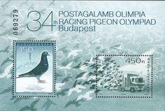 #4340 Hungary - 34th Racing Pigeon Olympiad S/S (MNH)