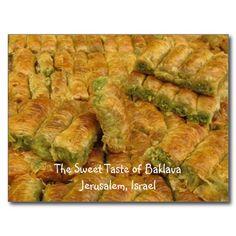 Jerusalem Israel Postcard - Pistachio Baklava