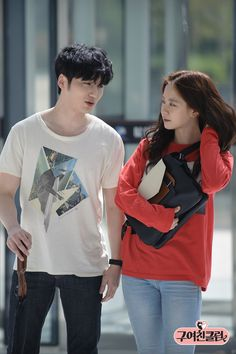 Byun Yo Han and Song Ji Hyo on the set of Ex-Girlfriend Club Ex Girlfriend Club, Byun Yo Han, Ji Hyo Running Man, Kdrama Actors, Ex Girlfriends, Korean Actors, Relationship Goals, Cute Couples
