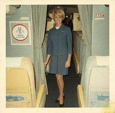 """American Airlines, 1960s  Bruce says, """"Fifi and this gal might have clashed, but I love the time-and-space marker."""""""