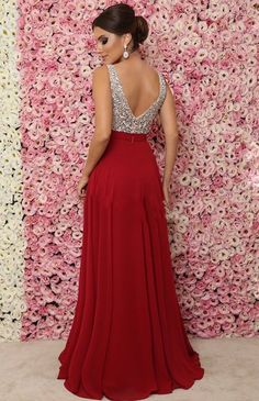 Sparkling Beaded V-Neck Long Prom Dress Custom Made Long Sequins Evening Party Dresses Fashion Long School Dance Dresses Source by upromdresses fashion evening Pageant Dresses, Evening Dresses, Dresses Dresses, Dresses For Teens, Formal Dresses, School Dance Dresses, Party Frocks, Pretty Dresses, Dress Making