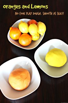 Oranges and Lemons No Cook Play Dough - Smooth as Silk. World Recipes, Gourmet Recipes, Healthy Recipes, Easy Diy Crafts, Diy Crafts For Kids, Simple Crafts, Craft Ideas, Cooked Playdough, Oranges And Lemons