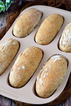 Graham-lisztes, magvas minibagett - Kifőztük Graham, Ricotta, Chef Blog, Sandwiches, Garlic Bread, Winter Food, Food Hacks, Bread Recipes, Healthy Life