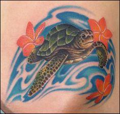baby sea turtle tattoos | Liz Cook Realistic Sea Turtle