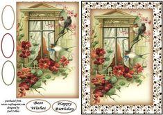 Vintage swallows on Craftsuprint - Add To Basket!