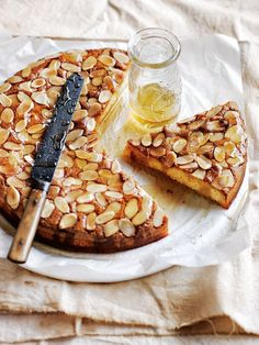 This luscious strawberry and almond syrup cake is ideal served with a glass of sparkling white wine – plus it's gluten-free, so everyone can enjoy a slice (or two! Almond Tart Recipe, Almond Recipes, Tart Recipes, Sweet Recipes, Baking Recipes, Dessert Recipes, Quick Recipes, Yummy Treats, Delicious Desserts