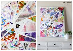 delia creates: Class Art Project, combining a work of art from each student to create one classroom canvas