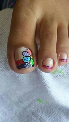 Flower Nail Designs, Pedicure Designs, Toe Nail Designs, Cute Acrylic Nails, Toe Nail Art, Wonder Nails, Cute Pedicures, Feet Nails, Fabulous Nails