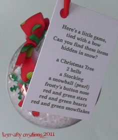 """I Spy"" Ornament--this would be cool for the kids to make"