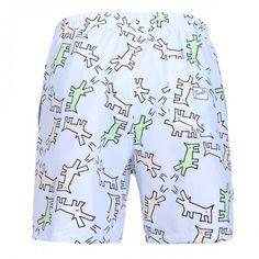 MID-LENGHT SWIM SHORTS WITH MULTICOLOR DOG PRINT - Polyester mid-lenght Boardshorts with all-over multicolor dog print. Elastic waistband with adjustable drawstring. Back pocket with Frank's label detailing. Internal net.  #mrbeachwear #uomo #men #onlineshop #franks #boardshort #summer #fashion #swimwear  #style #springsummer2014 #summer2014 #dog