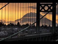 View of Mount Tahoma (Ranier)  From Tacoma Narrows Bridge