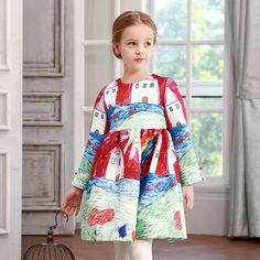 $23.80 (Buy here: https://alitems.com/g/1e8d114494ebda23ff8b16525dc3e8/?i=5&ulp=https%3A%2F%2Fwww.aliexpress.com%2Fitem%2FGirl-Dress-2016-Brand-Princess-Dress-Designer-Character-Painting-Kids-Dresses-Queen-Costume-For-Girls-Clothes%2F32649764790.html ) 2016 Brand  Luxury Girl Dress Character Painting Beautiful Queen Vintage Kids Costume For Party European Style  Princess Dresses for just $23.80