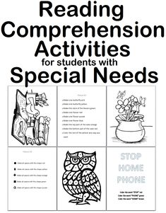 Reading comprehension activities for students with special needs autism strategies Calendar Activities, Autism Classroom, Classroom Ideas, Reading Comprehension Strategies, Quotes For Students, Dinners For Kids, Kids Nutrition, Education Quotes