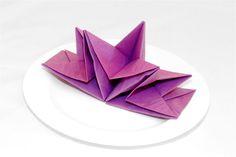 Papierservietten falten lila