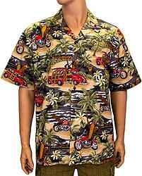0229c81d Mens Authentic Hawaiian Shirt Woodies C-464 Surf Store, Larry, Diving,  Hawaiian