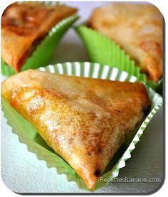 samossa aux crevettes Samosas, Empanadas, Queso Fundido, Moroccan Dishes, Salty Foods, Ramadan Recipes, Arabic Food, Pasta, Entrees