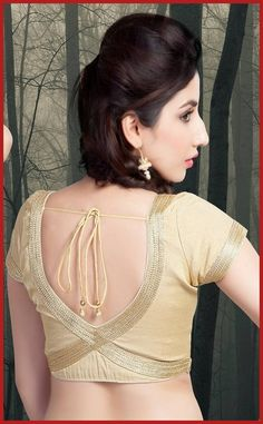 Blouse Back Neck Designs With Border More
