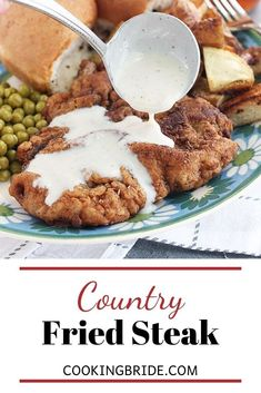 Country fried steak is a Southern classic. Tenderized steak cutlets are double battered and breaded, the fried until golden brown. Beef Cubed Steak, Chicken Fried Steak, Steak Wraps, Healthy Ground Beef, Leftover Steak, Southern Recipes, Southern Food, Cutlets Recipes, Ground Beef Casserole