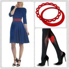 Friday favourites! Jeg har næsten lyst til at skrive BREAKING NEWS, for jeg har været så usandsynlig heldig at få fingrene i et par af den ellers helt usolgte Blue Birdie Celine kjole. Det er helt oplagt at dresse den op med et rødt Waist bælte, et par fine røde plexiglas armbånd og et par sexede strømpebukser fra Pretty Polly.  Se mere på www.Weiz.dk Ha' en fantastisk dag!  Pssst.... Vent ikke for længe med at bestille din, der er pt kun 3 stk tilbage! Siger det bare lige....