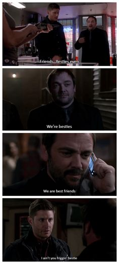 You've been dumped, Crowley (9x11, 9x17, 10x01, 10x02) [gifset] ~ I NEED to watch this show before I combust