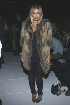 faux fur- red lipstick is very fall too!!